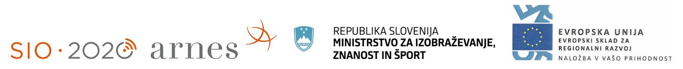 Logotipi SIO-2020, Arnes, MIZŠ, EU Evropski sklad za regionalni razvoj