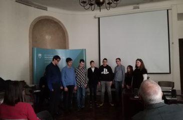 Odprtje razstave v Arhivu Slovenij_nastop zborčka