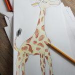 Pobarvana žirafa. Avtorja: Tomaž in Neža