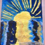 Odsev sonca v vodi. Avtorica: Iza