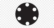 skica za taktilne oznake na gumbu pečice