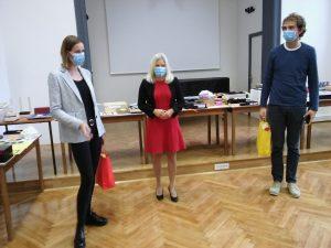 Svečana predaja ga Sulič, ravnateljica ga Korpivnikar ter g Krasnič