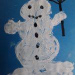 Klarina čestitka s snežakom