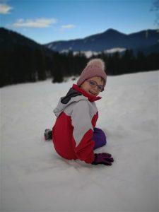 Klara na snegu