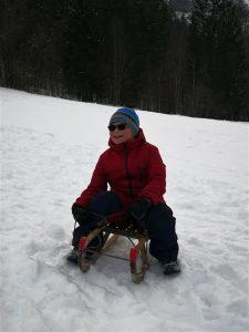 Nejc na snegu