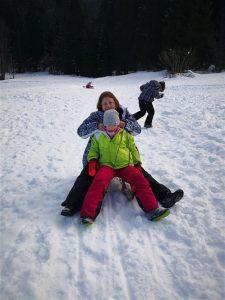 Tinkara na snegu
