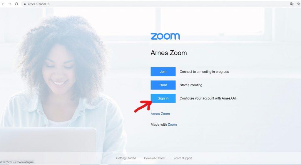 Zoom Prijava